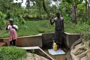 The Water Project: Litinye Community, Shivina Spring -  Community Spring