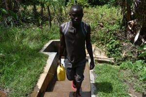 The Water Project: Litinye Community, Shivina Spring -  James Otieno At Shivina Spring