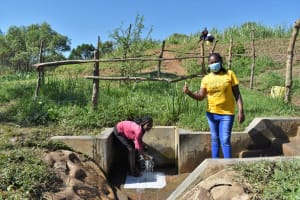 The Water Project: Mukhuyu Community, Chisombe Spring -  Lydia And Nelly