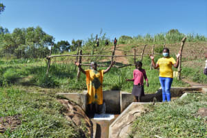 The Water Project: Mukhuyu Community, Chisombe Spring -  Nebo Lydia And Nelly