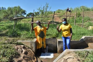 The Water Project: Mukhuyu Community, Chisombe Spring -  Nebo And Nelly