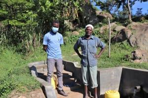 The Water Project: Mahira Community, Kusimba Spring -  Field Officer Ian With Joshua