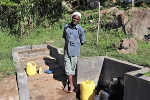 The Water Project: Mahira Community, Kusimba Spring -  Sir Joshua Kusimba