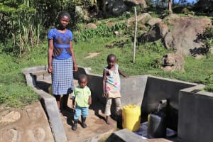 The Water Project: Mahira Community, Kusimba Spring -  Valarie Lens And Their Mother