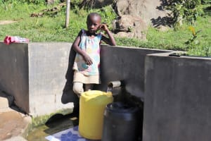 The Water Project: Mahira Community, Kusimba Spring -  Valarie At The Water Point