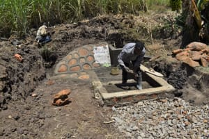 The Water Project: Malekha Central Community, Misiko Spring -  Setting The Stairs