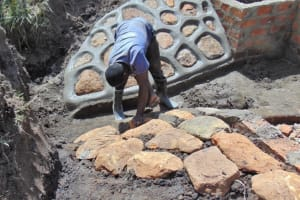The Water Project: Malekha Central Community, Misiko Spring -  Plastering The Rubwalls