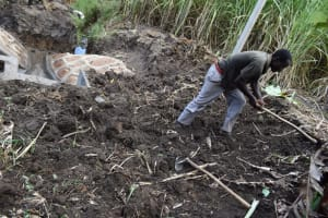 The Water Project: Malekha Central Community, Misiko Spring -  Backfilling With Soil