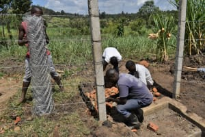 The Water Project: Malekha Central Community, Misiko Spring -  Fencing