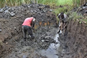 The Water Project: Malekha Central Community, Misiko Spring -  Excavation