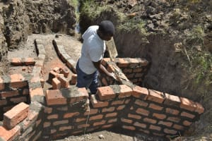 The Water Project: Malekha Central Community, Misiko Spring -  Constructing The Headwall