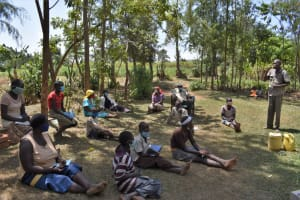 The Water Project: Malekha Central Community, Misiko Spring -  Dental Hygiene Demonstration