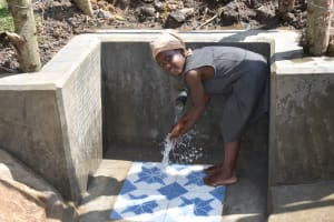 The Water Project: Malekha Central Community, Misiko Spring -  It Was A Happy Moment