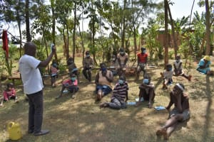 The Water Project: Malekha Central Community, Misiko Spring -  Maskwearing And Handling Session