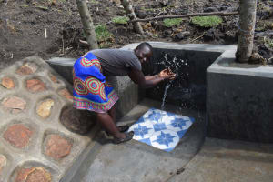 The Water Project: Malekha Central Community, Misiko Spring -  Splashing Water