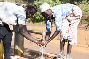 The Water Project: Mbitini Community A -  Clean Water From The Well