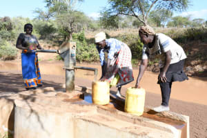 The Water Project: Mbitini Community A -  Collecting Water