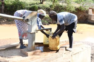 The Water Project: Mbitini Community A -  Filling Up At The Well