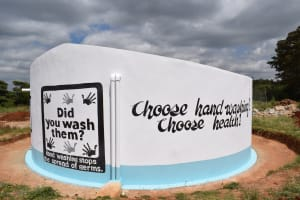 The Water Project: Kavyuni Salvation Army Primary School -  Completed Tank