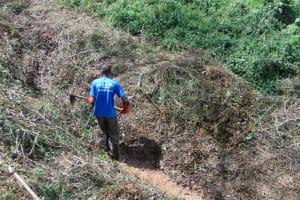 The Water Project: Makhwabuye Community, Majimazuri Lusala Spring -  Initial Site Clearance