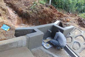 The Water Project: Makhwabuye Community, Majimazuri Lusala Spring -  Setting The Tiles