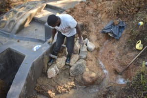 The Water Project: Makhwabuye Community, Majimazuri Lusala Spring -  Backfilling With Clay