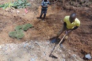 The Water Project: Makhwabuye Community, Majimazuri Lusala Spring -  Backfilling With Soil