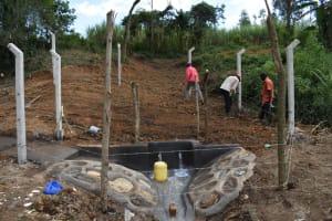 The Water Project: Makhwabuye Community, Majimazuri Lusala Spring -  Fencing