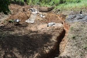 The Water Project: Makhwabuye Community, Majimazuri Lusala Spring -  Cutoff Drainage Channel