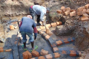 The Water Project: Makhwabuye Community, Majimazuri Lusala Spring -  Brickwork
