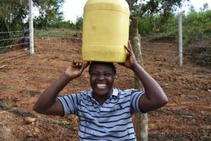 The Water Project: Makhwabuye Community, Majimazuri Lusala Spring -  A Happy Woman