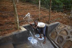 The Water Project: Makhwabuye Community, Majimazuri Lusala Spring -  All Smiles