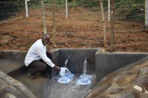 The Water Project: Makhwabuye Community, Majimazuri Lusala Spring -  It Was A Happy Moment