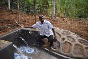The Water Project: Makhwabuye Community, Majimazuri Lusala Spring -  Joy Makes People Look And Feel Lile A Child They Said