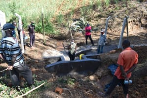 The Water Project: Makhwabuye Community, Majimazuri Lusala Spring -  Onsite Training