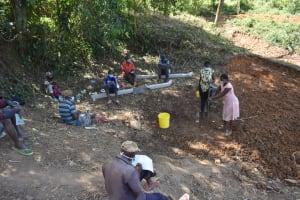 The Water Project: Makhwabuye Community, Majimazuri Lusala Spring -  The Handwashing Exercise