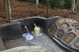 The Water Project: Makhwabuye Community, Majimazuri Lusala Spring -  Water Flows Freely