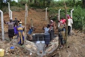 The Water Project: Makhwabuye Community, Majimazuri Lusala Spring -  Women Celebrate The Spring