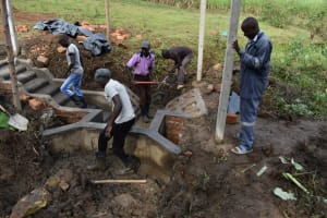 The Water Project: Indulusia Community, Wanyama Spring -  Backfilling With Clay