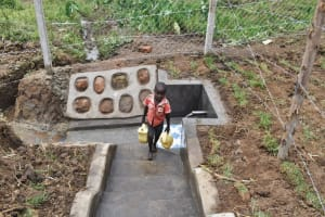 The Water Project: Indulusia Community, Wanyama Spring -  A Boy Carrying Water From The Spring