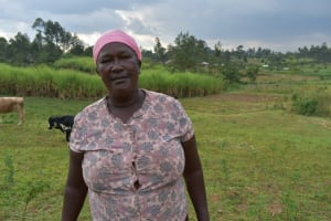 The Water Project: Indulusia Community, Wanyama Spring -  Water User Committee Chair Gladys Mutuya