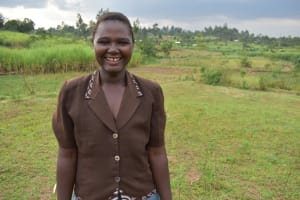 The Water Project: Indulusia Community, Wanyama Spring -  Water User Committee Secretary Caroline Kandi