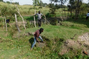 The Water Project: Muyundi Community, Magana Spring -  Site Clearing