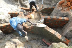 The Water Project: Muyundi Community, Magana Spring -  Inside Plaster