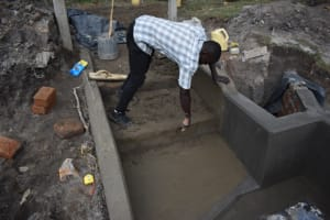 The Water Project: Muyundi Community, Magana Spring -  Setting The Stairs