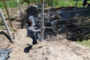 The Water Project: Muyundi Community, Magana Spring -  Fencing