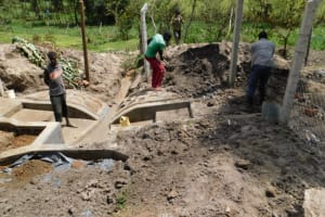 The Water Project: Muyundi Community, Magana Spring -  Backfilling With Soil