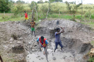 The Water Project: Muyundi Community, Magana Spring -  Site Excavation