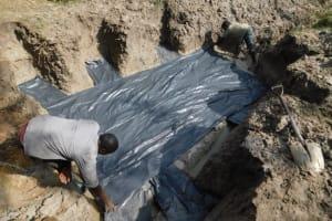 The Water Project: Muyundi Community, Magana Spring -  Foundation Slab Preparation