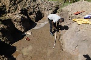 The Water Project: Muyundi Community, Magana Spring -  Brick Setting Measurements